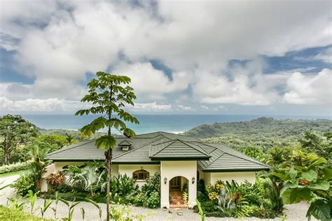 spanish style ocean view home  dominical costa rica