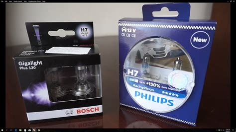 bosch plus 120 gigalight bosch gigalight plus 120 vs philips racingvision