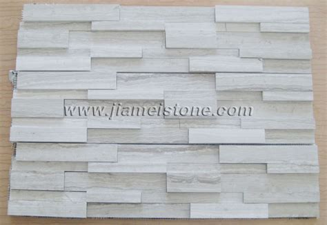 White Wood Marble Cultured Stone Tiles White Wooden Vein