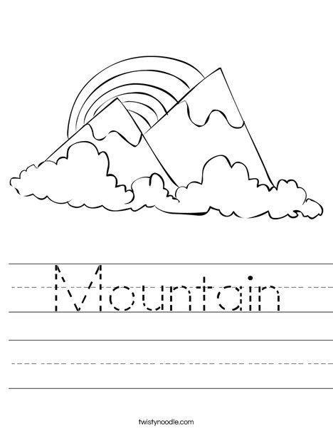 mountain worksheet twisty noodle kindergarten 460 | 8125918faa383d2ce16284cb7f842843