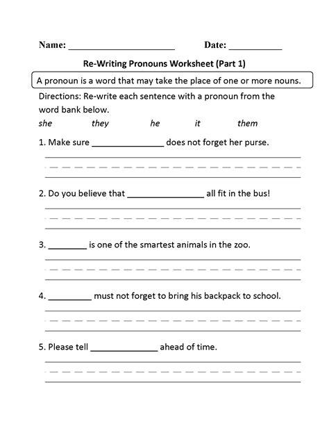 worksheet pronoun worksheets 2nd grade grass fedjp
