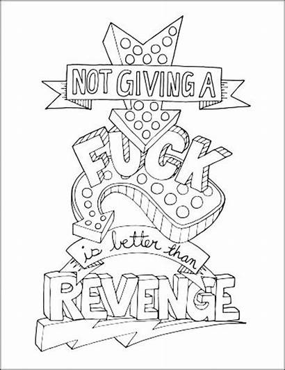 Coloring Pages Stress Relief Word Printable Curse
