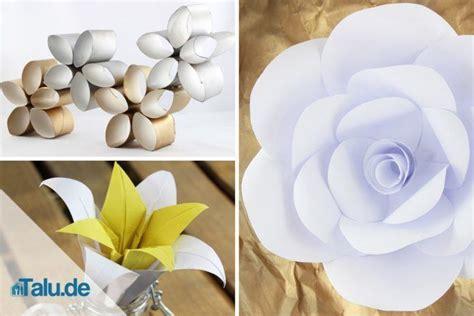 papierblumen selber basteln  ideen talude