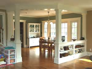 interior home columns low walls interior columns