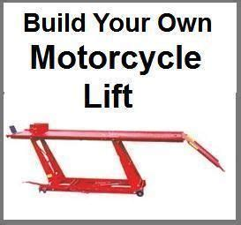 But for the motorcycle's engine to power an airplane there would have to be a gear reduction system that would convert the motorcycle engine rpms to roughly 30% of the engine's maximum rpms to drive the propeller at the optimal aerodynamic rpm. Homemade Motorcycle Lift Table | Motorcycle lift table ...