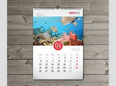 12 Sheets Monthly Wall Calendar 2015 Template W6 on Behance