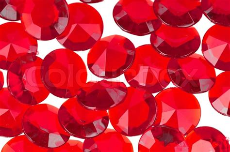 red crystal   white background stock image
