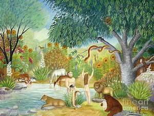 Le jardin du paradis painting by colette raker for Le paradis du jardin