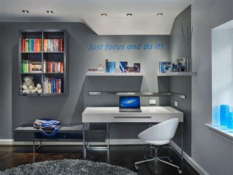 peinture bureau deco chambre fille ado bleu