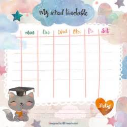 Cute School Schedule Template