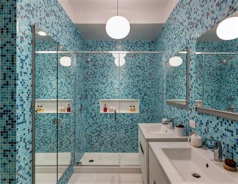 blue mosaic bathroom mirror how to decide between hiring an architect or a designer