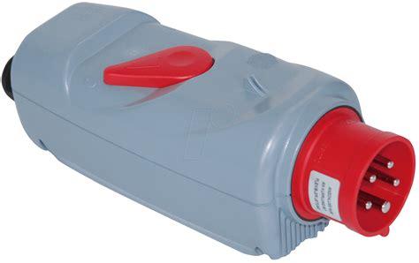 16a stecker mit schalter pce 54015530 cee stecker mit schalter 5 p 400v 16a rot bei reichelt elektronik