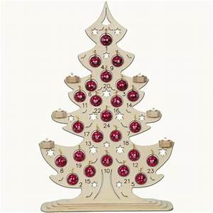 Adventskalender Holz Baum : adventskalender aus holz mit metallkugeln erzgebirge ~ Watch28wear.com Haus und Dekorationen