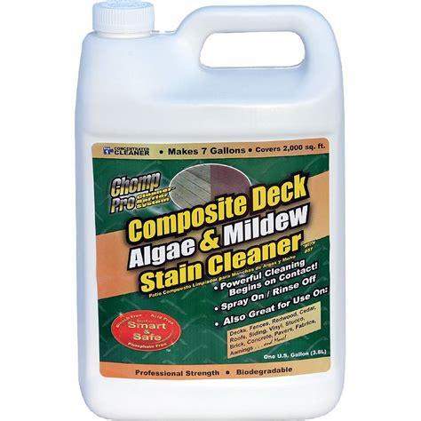 trex deck cleaner chomp composite deck algae mildew cleaner conc gallon