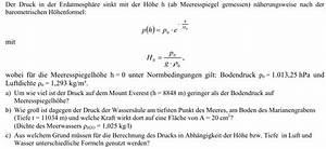 Wasserdruck Berechnen : druck druck mount everest und marianengraben mathelounge ~ Themetempest.com Abrechnung
