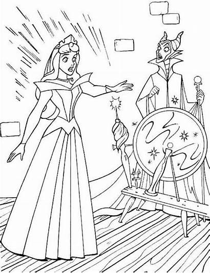 Maleficent Coloring Sleeping Pages Beauty Disney Printable