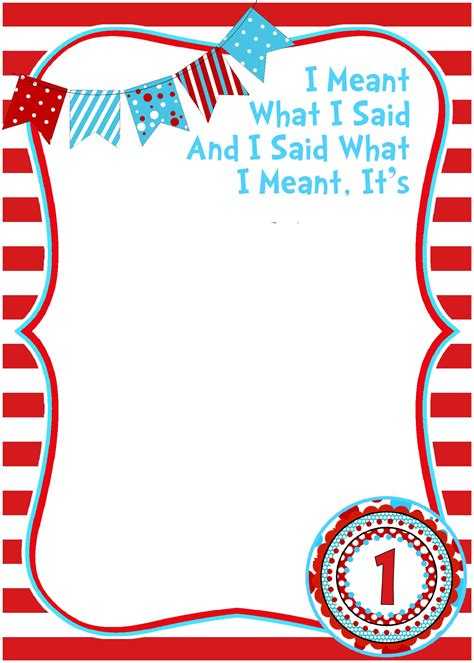 printable dr seuss birthday invitations