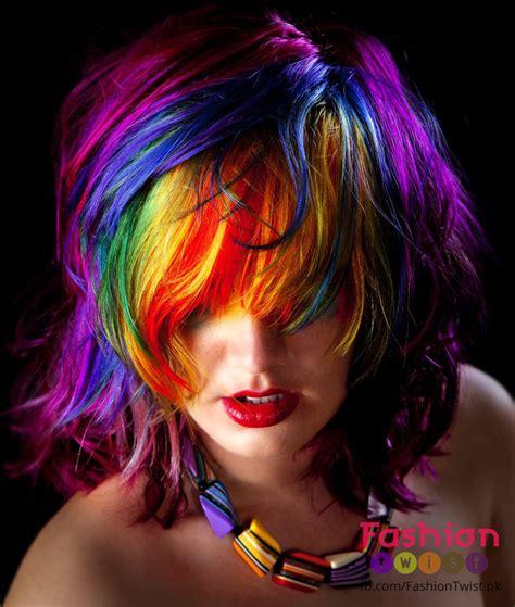 rainbow hair color bright rainbow hair colors new hair dye trend of 2016