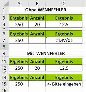 Argument Berechnen : excel wennfehler funktion am beispiel erkl rt ~ Themetempest.com Abrechnung