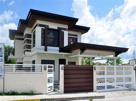 2 storey firewall house design modern Modern House