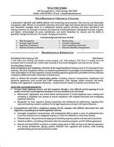 resume format for experienced administrative manager responsibilities general counsel resume exle