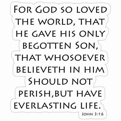 Bible John Verses James King Quotes Sticker