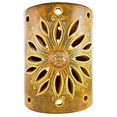 Ceramic Wall Sconces - ceramica blanca collection clay wall sconce ccbs002