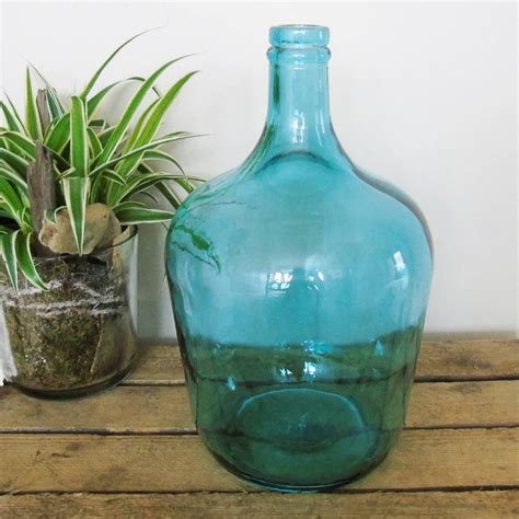 Large Glass Bottle Vase By The Den & Now ...