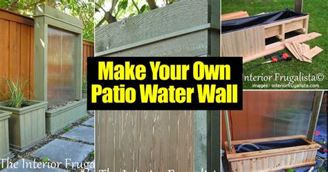 how to build water wall how to making an amazing diy patio water wall