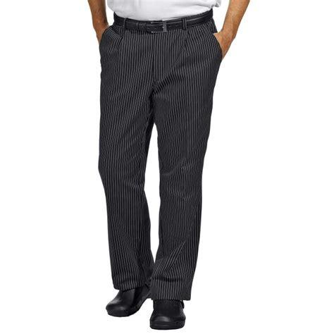 pantalon de cuisine noir pantalon de cuisine ou de service fines rayures tissées