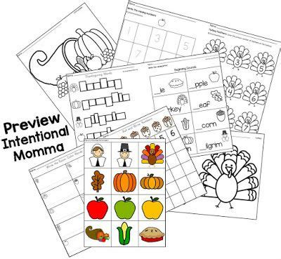 thanksgiving printable no prep worksheets and coloring