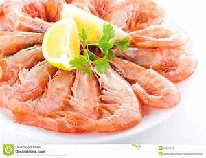 Fresh Shrimp Salad With Lettuce; Berries And Rocket Stock ...