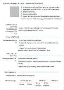 40 blank resume templates free sles exles