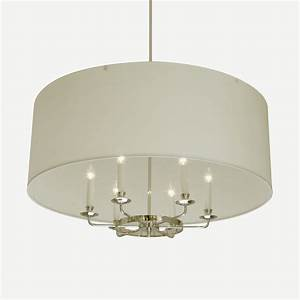 Hanging parchment drum shade hs