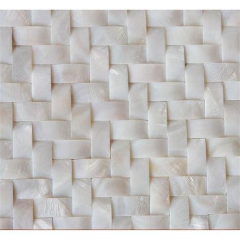 Backsplash Tile For Bathrooms by White Mother Of Pearl Arched Tile Backsplash Herringbone