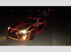 This Guy Made His Own Tron Car With Some Reflective Tape