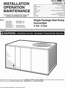 Trane Package Units Both Units Combined  Manual L0905292