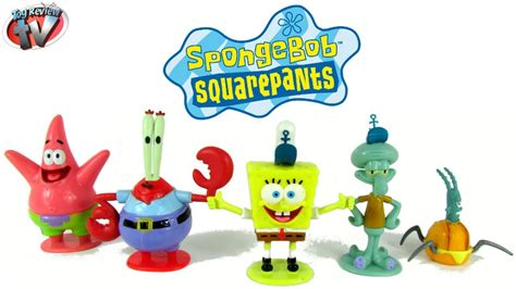 Spongebob Squarepants 5 Figure Set Toy Review, Simba