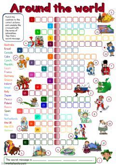 countries  nationalities interactive worksheets