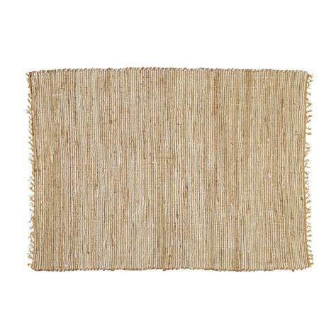 tapis tress 233 en coton et jute 140 x 200 cm lodge maisons du monde