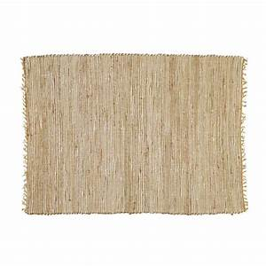 Tapis En Coton : tapis tress en coton et jute 200 x 300 cm lodge maisons ~ Nature-et-papiers.com Idées de Décoration