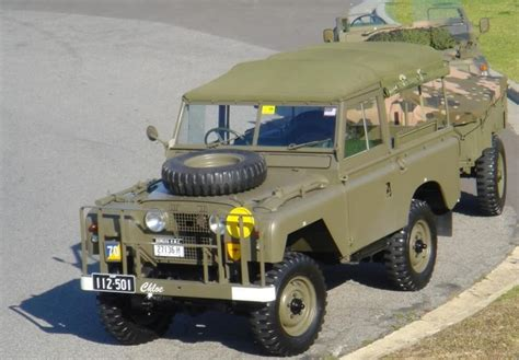 land rover australian australian army land rover and trailer land rover