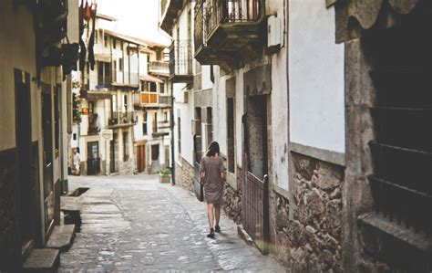 Street, Building, Woman And Stone Hd Photo By Francisco