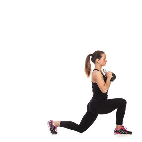 kettlebell lunge fitness workout exercise strength