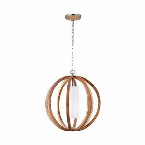 Wood pendant ceiling lights : Elstead lighting feiss allier single light small ceiling