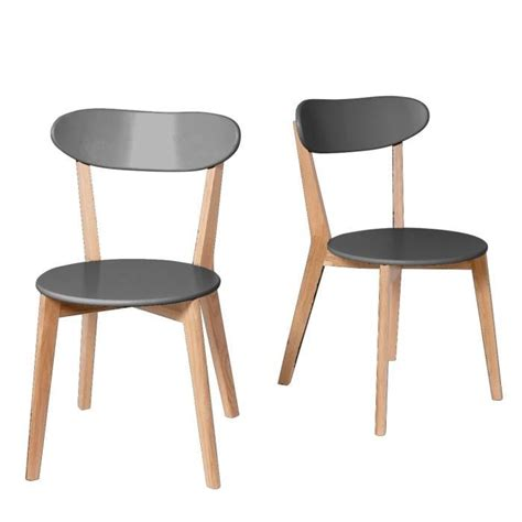 chaises scandinave lot de 2 chaises design scandinave vitak couleur gris