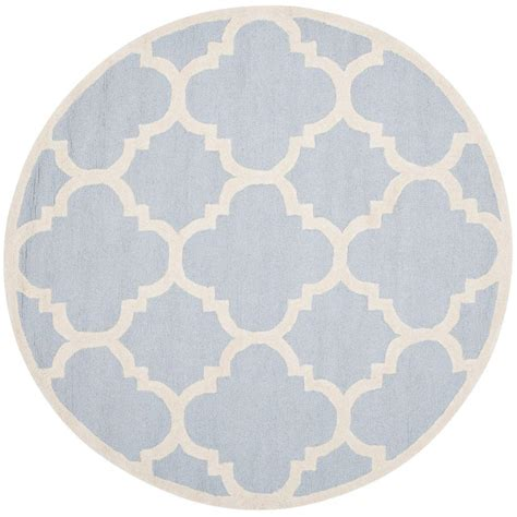 Blue Round Rugs 6 Feet by Safavieh Cambridge Light Blue Ivory 6 Ft X 6 Ft Round