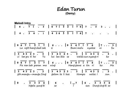 not angka tum hi ho piano gambar lirik lagu edan turun not angka lagu edan turun pianika dan piano