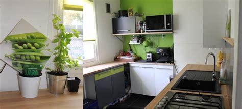 cuisine blanche et verte cuisine vert pomme et blanche