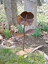 Rustic Metal Yard Flower - Lawn Art Sculpture - WV Crafted rusty metal flowers garden art